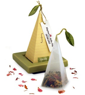 herbal pyramid tea bag