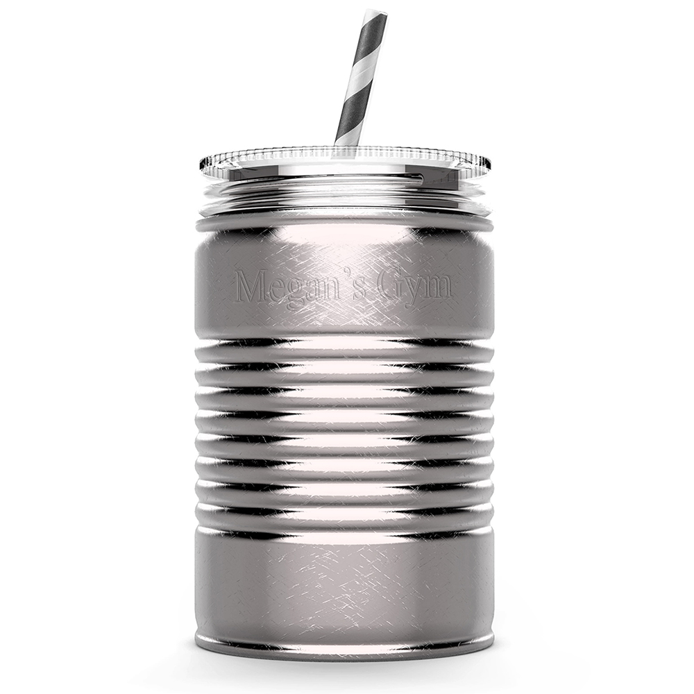 Rustic Chic Stainless Steel Fitness Water Can