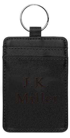 Black ID & Credit Card Wallet Key Holder
