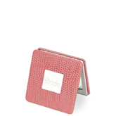 Pink Leather Compact Mirror