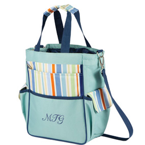 Insulated Cooler Picnic Chic Turquoise Bag