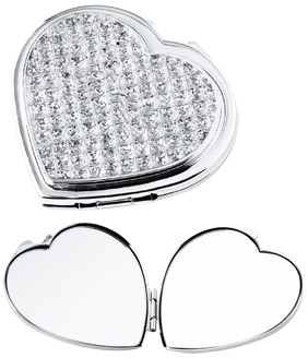 Heart Stones Compact Mirror