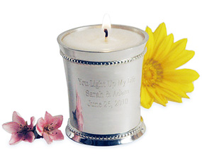 Personalized Julep Cup With (Optional) Lemon Votive Candle