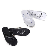 Just Married Beach Flip Flop Sandals