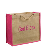 Eco Friendly Braided Handle Jute Bag