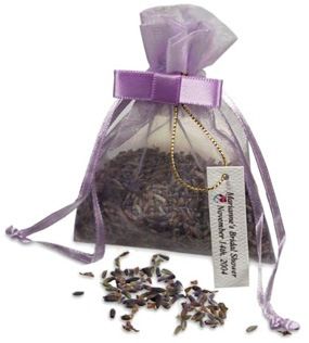 Lavender Seeds Wedding Favor Bag