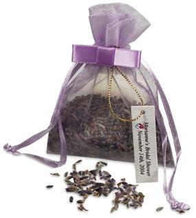 Lavender Seeds Wedding Favor Bag