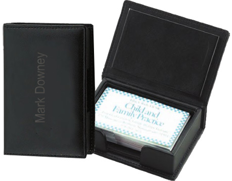 Leather Business Card Case Holder