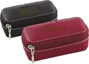 Compact Mirror Lipstick Leather Case
