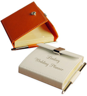 Mini Leather Notepad With Pen*