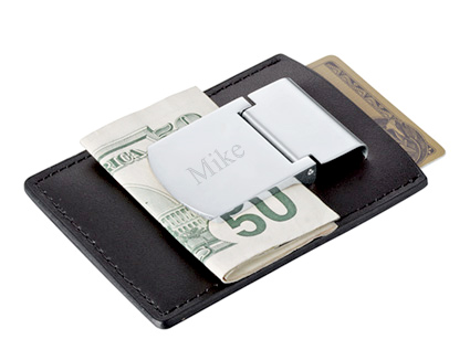 Zippo Leather Credit Card and Silver Money Clip
