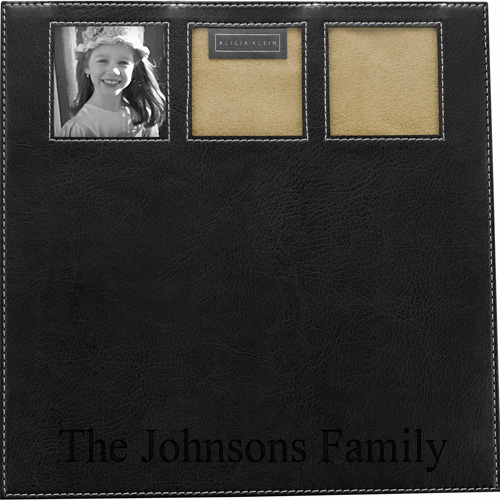 Triple Leather Photo Frames Computer Mousepad