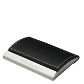 Executive Black Leather Business Card Case