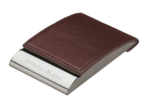 Magnetic Closure Leather Business Card Holder*