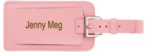 Leather Buckle Luggage Tag