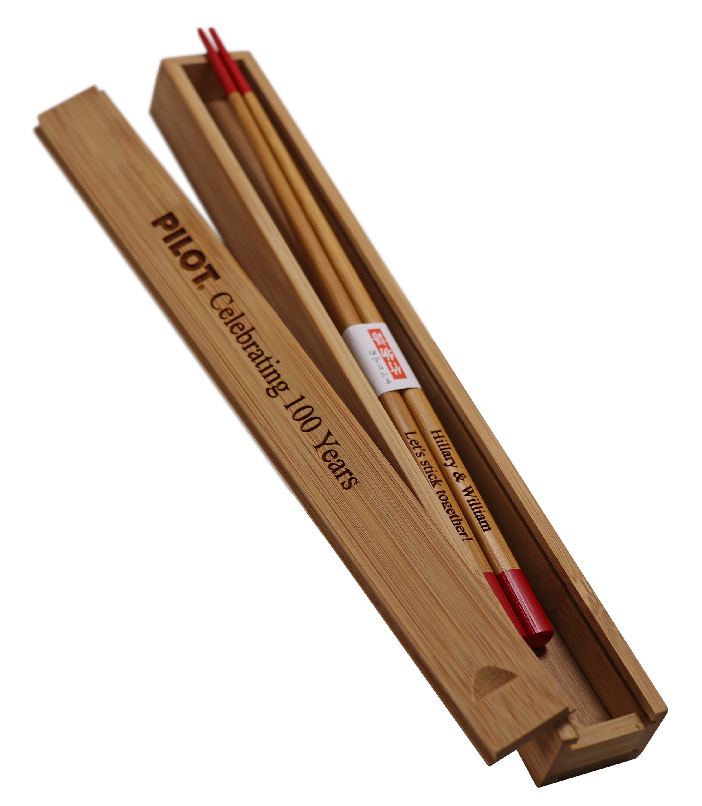 Personalized Red Japanese Bamboo Chopsticks