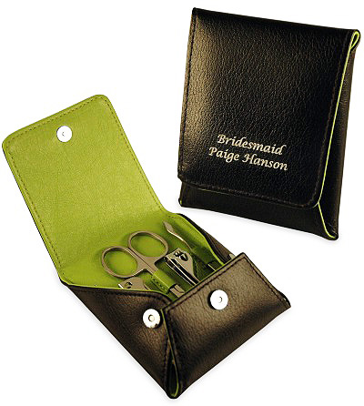 Travel Leather Manicure Set