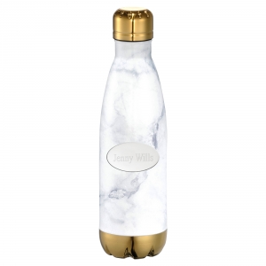 White Triangle Copper Stainless Steel Water Bottle Keep