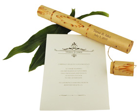 Message in a Bamboo Tube Invitation*