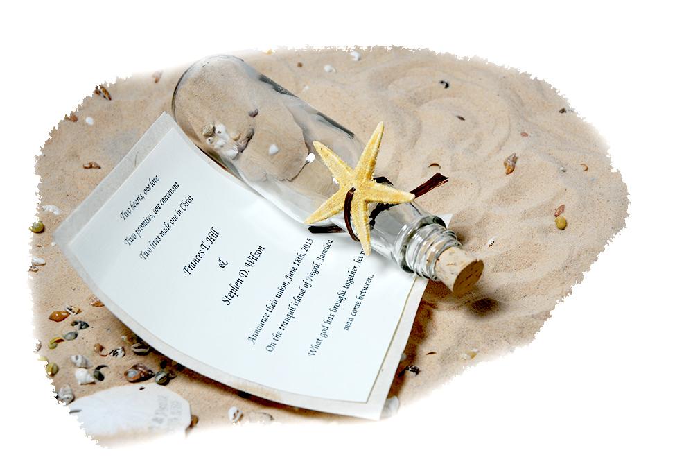 Starfish Wedding Invitation In A Bottle HansonElliscom