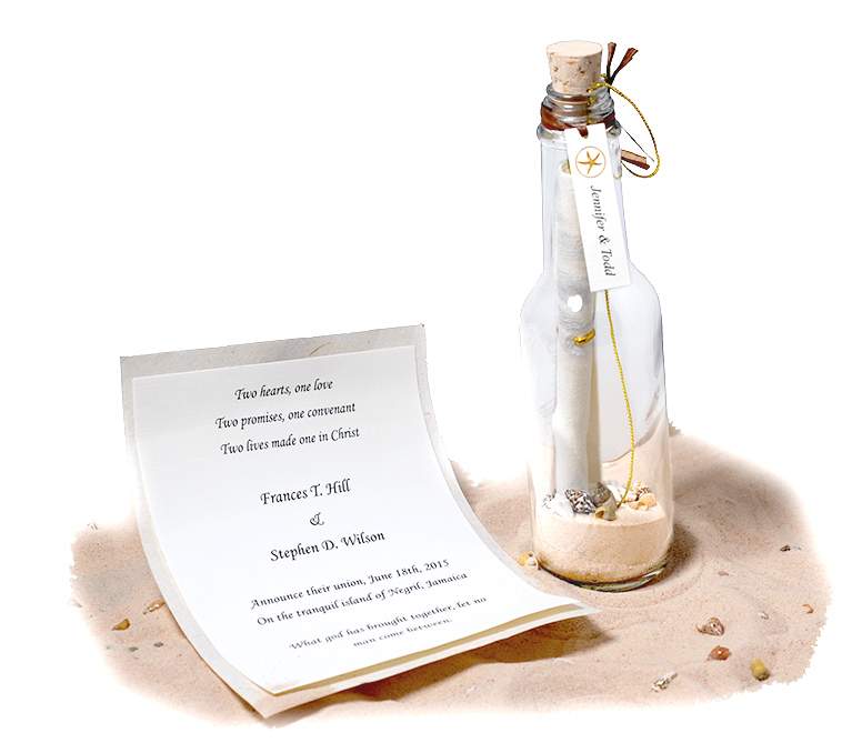 Message In A Bottle Invitation: HansonEllis.com