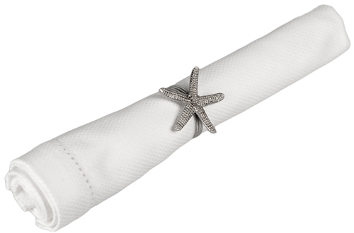Metal Beach Starfish Napkin Ring