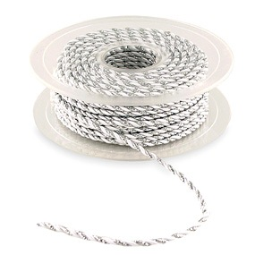 20 Yards Twisted Metallic Rope Ribbon