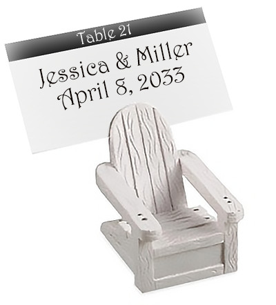 Mini Adirondack Chair Placecard Holder