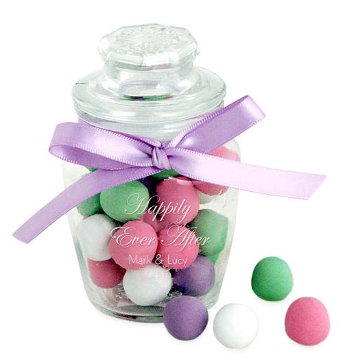 Mini Glass Apothecary Candy Jar Favor