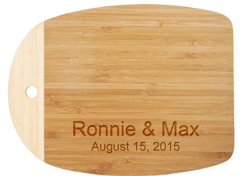 mini personalized bamboo wood cutting board hansonellis, Kitchen design