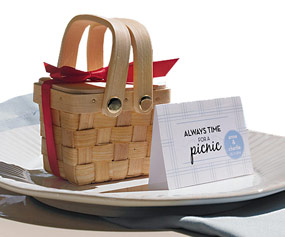 Sweet Double Handles Mini Picnic Basket