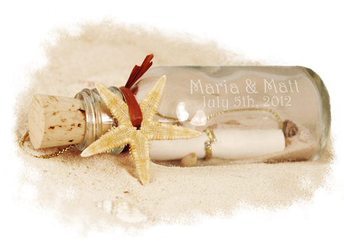Mini Starfish Thank You Message in a Bottle
