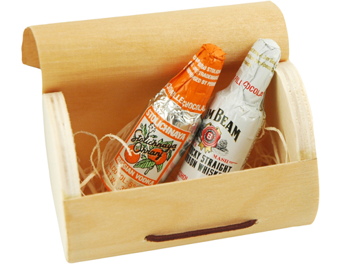 Eco-Friendly Mini Wood Champagne Box Favor