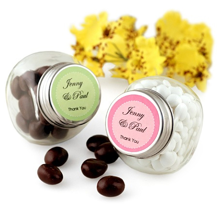 Mini Glass Candy Jar Favor