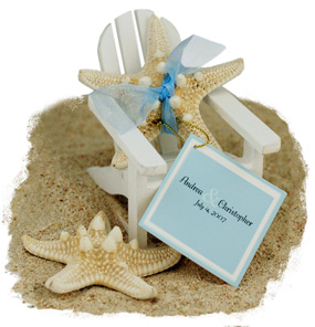 White Bumpy Beach Starfish Favor