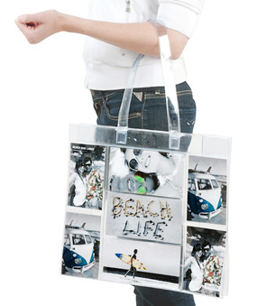 Modern Photo Pocket Tote Bag*