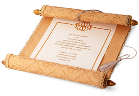 Moroccan Wedding Scroll Invitation