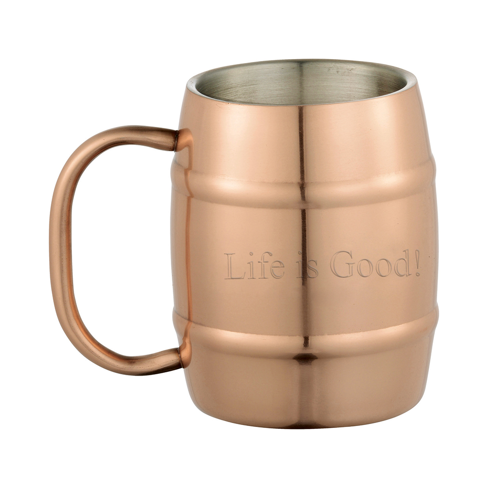Engraved Double-Wall Moscow Mule Barrel Mug