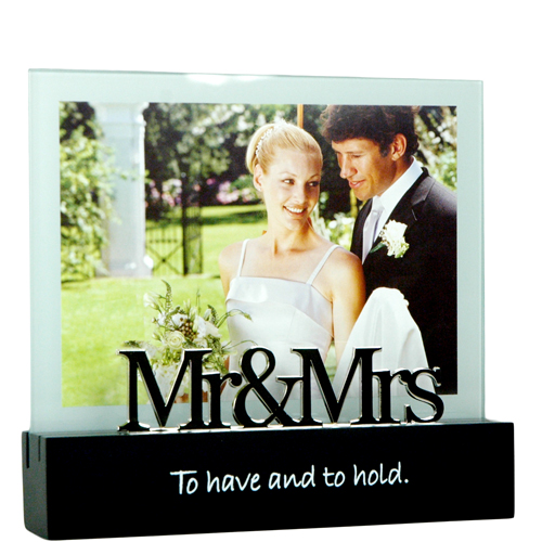 "5"" x 7"" Mr. and Mrs. Wedding Expression Frame"