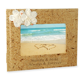 Beach Picture Frame With Island Flowers*