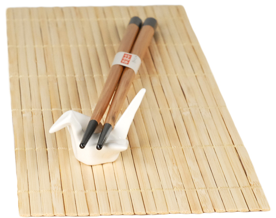 Origami Crane Porcelain Asian Chopstick Rest