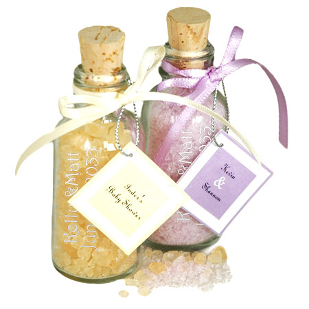 Scented Bath Salts Bottle Favor