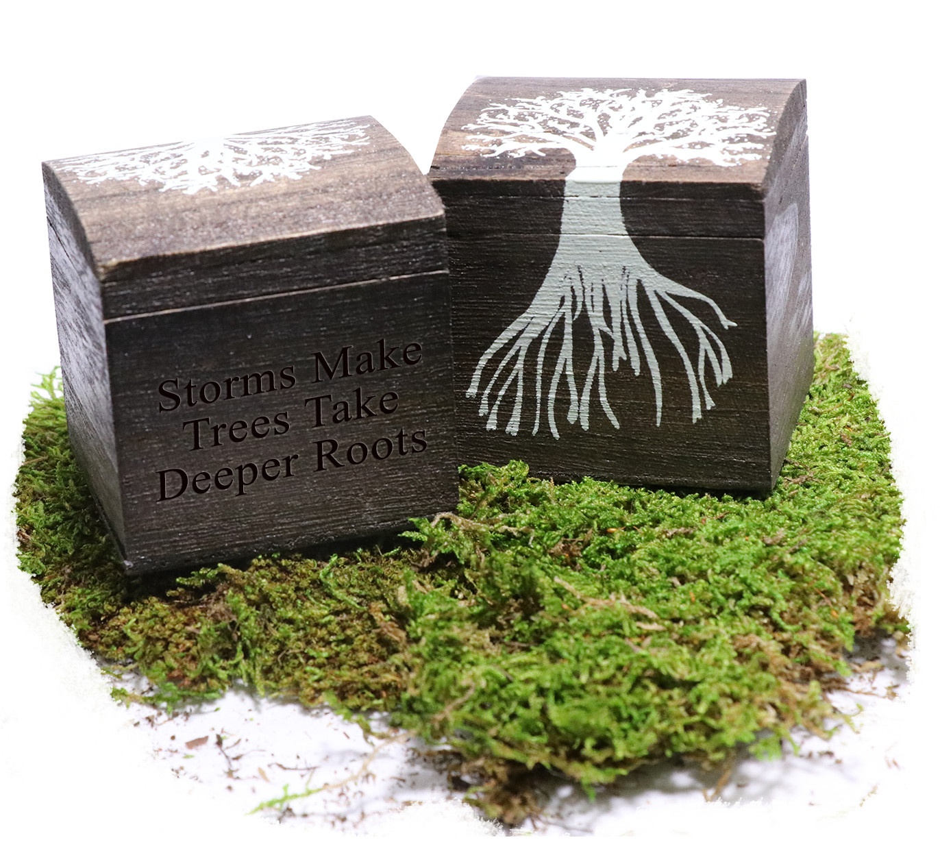 Personalized Growing Together Wood Tree Trinket Box