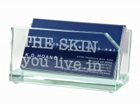 Personalized desk accessories card holders gifts by hansonellis executive glass business card holder colourmoves