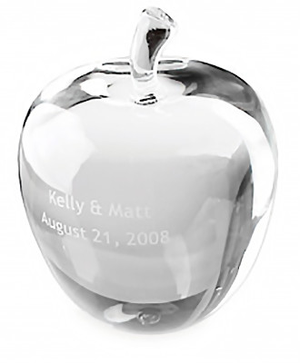 Large Crystal Apple Achievement Award