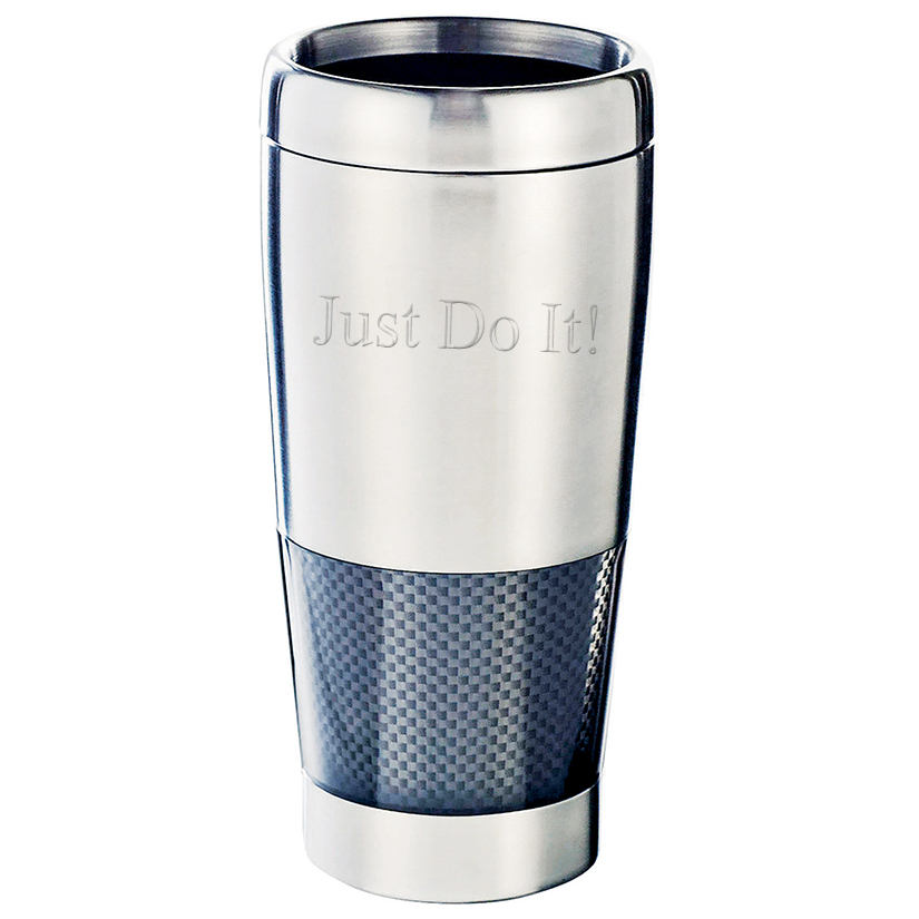 Personalized Skid-Proof Double Wall Stainless Steel Tumbler with Thumb-Slide Closure