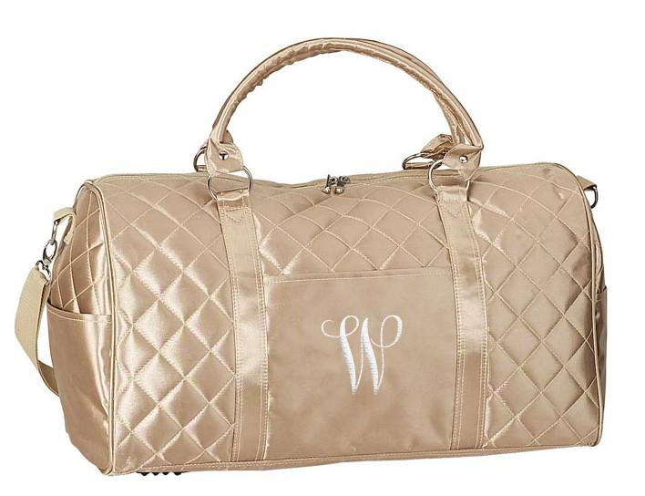 1dbeb8cf5ffd Metallic Gold Carry-On Savvy Zipper   Pocket Travel Duffel Bag ...