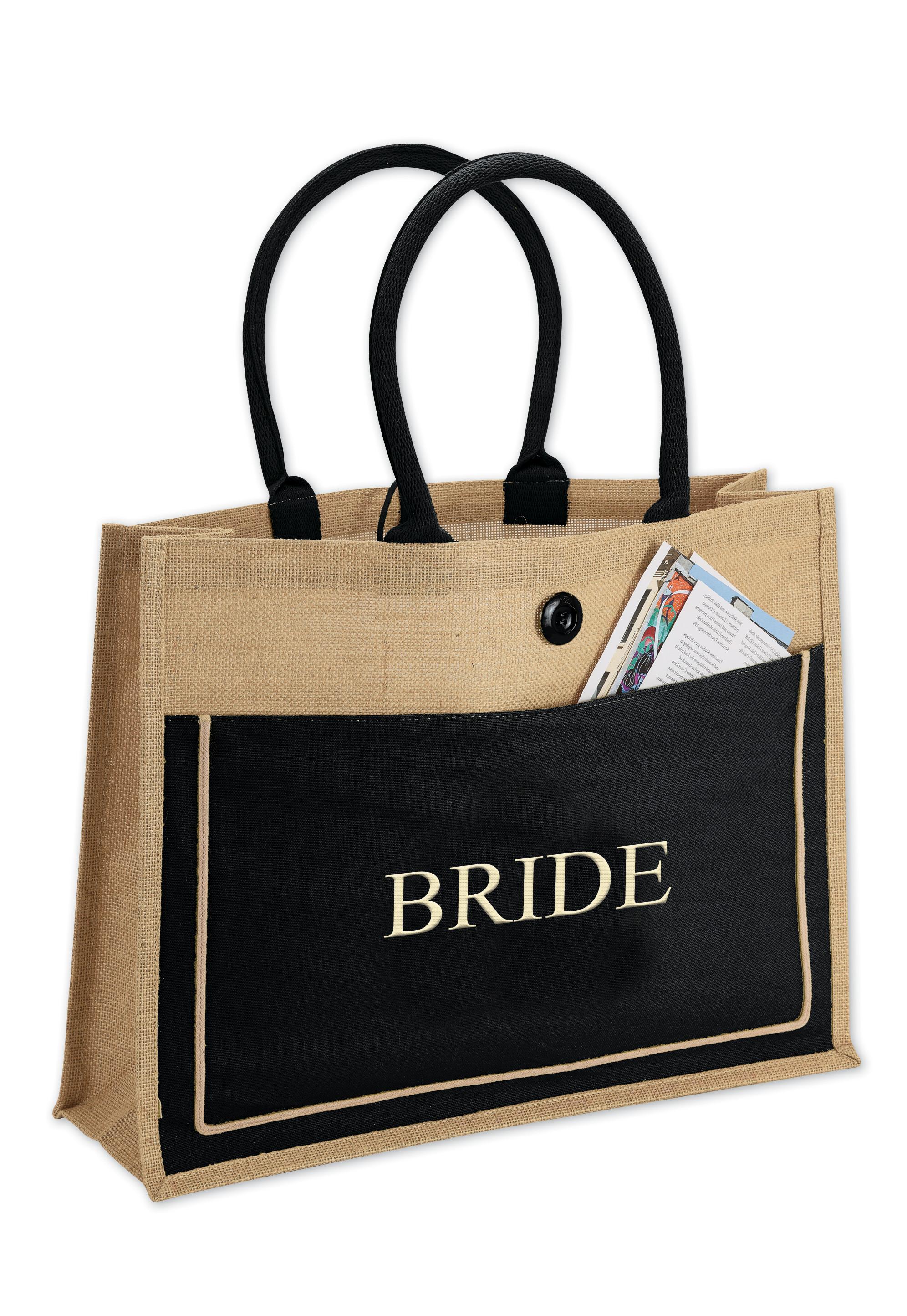 4996efe61 Natural 2-Tone Brown/Black Cotton Canvas Jute Bags: HansonEllis.com