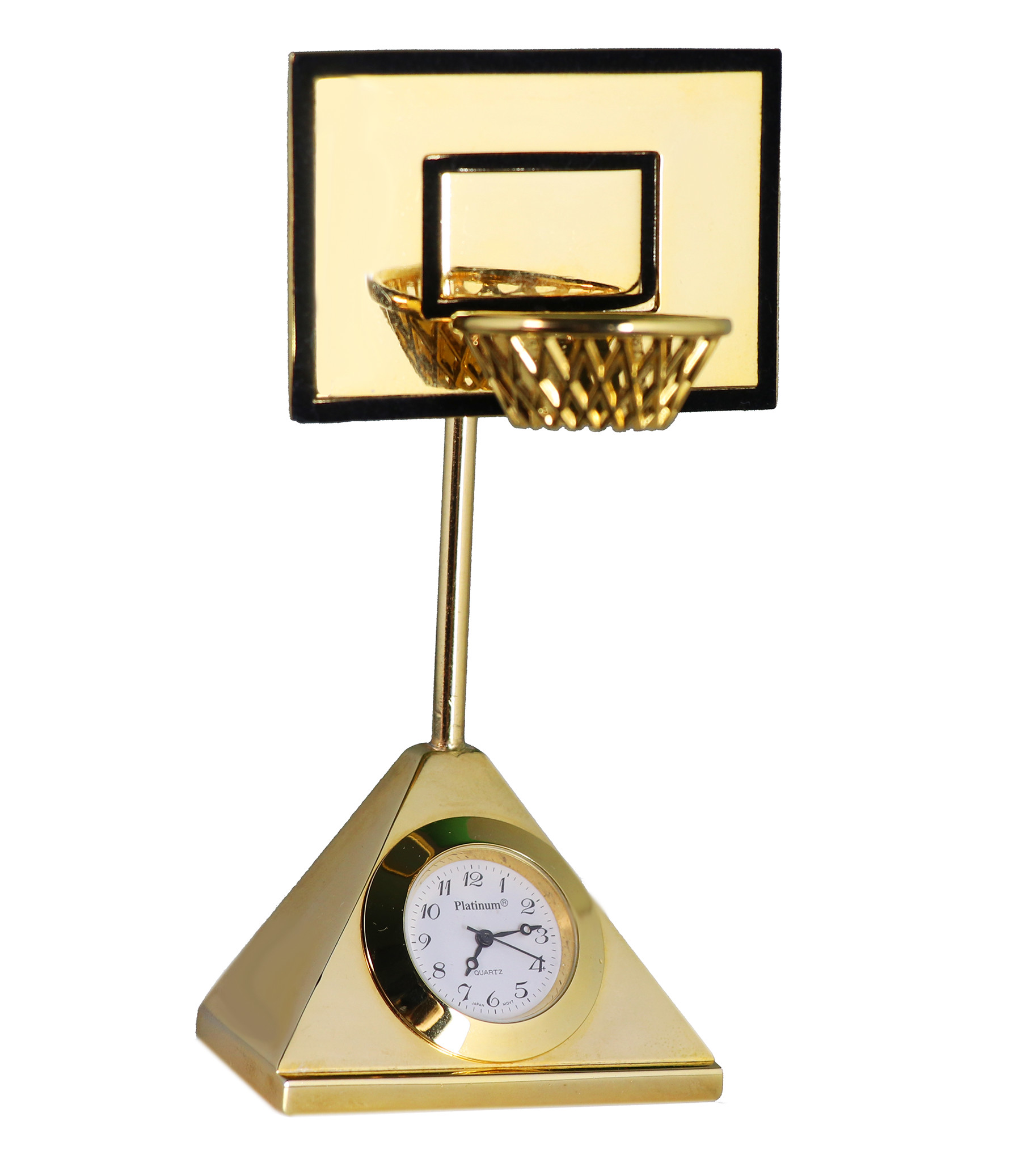 Personalized Gold Basketball Coach Court Clock