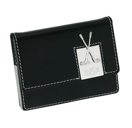 Leather Golf Card Case Holder